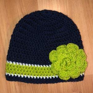 Accessories - Handmade crocheted Seattle Seahawks beanie